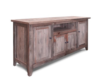 Media Console, TV Stand, Reclaimed Wood, Entertainment Console, Console Table, Handmade, Rustic