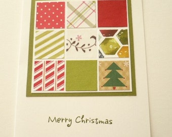 Quilt Look Christmas Card