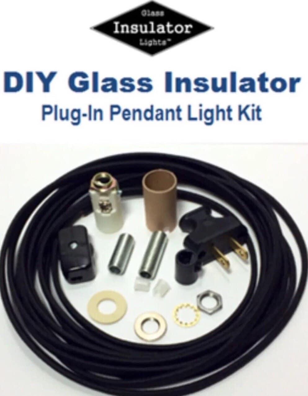 insulator swag light kit plug in pendant lights parts kit. Black Bedroom Furniture Sets. Home Design Ideas
