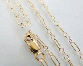"14k Gold Filled Chain with Lobster Clasp, 18"" Length."