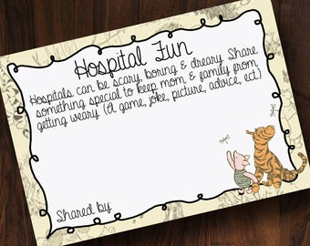 Winnie the Pooh Hospital Fun Cards ~ INSTANT DOWNLOAD