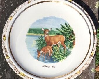 Vintage Deer Plate