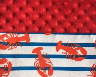 Customized, Personalized Children's/Pet Blanket - Lobster