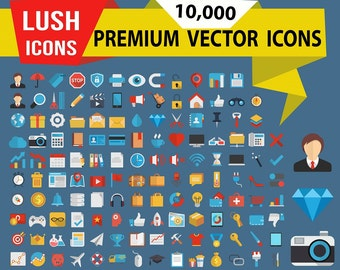 10,000 Premium Icons with more than 200 categories