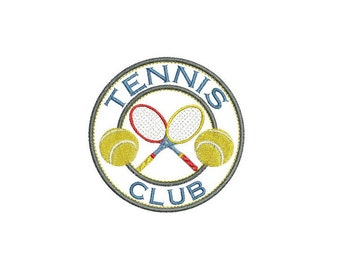 Tennis badge enmbroidery design