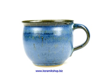 Ceramic Cup small bulge effect blue
