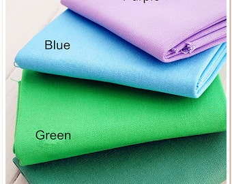 Solid Canvas Cotton Fabric Curtain Bag Fabric Sofa Upholstery Home Decor Fabric- 1/2 yard f62a