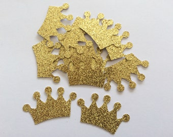 Gold glitter crown confetti.Royal blue.Silver.Perfect for weddings/bridal showers/baby showers/engagement/birthday/parties/princess/prince