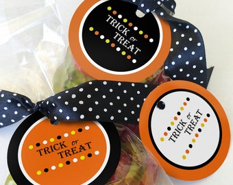 Printable Halloween Tags, Instant Download Halloween Printables, Halloween Favor Tags