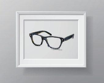 Glasses Watercolor Print - Spectacles Art - Optometry Art - Optometrist Watercolor