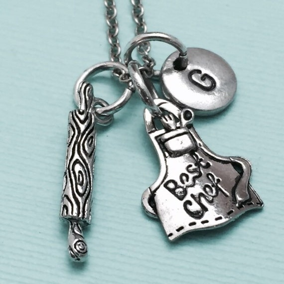 chef necklace chef charm theme necklace personalized