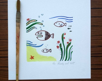 painting small fish