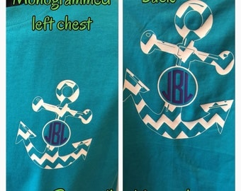 Anchor Monogram shirt chevron shirt anchor shirt new personalized for you