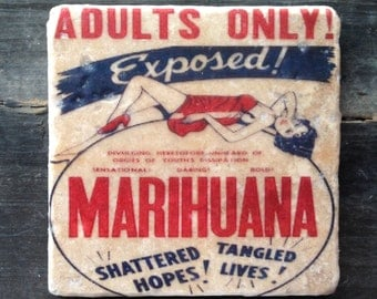 Marihuana Adults Only Tile