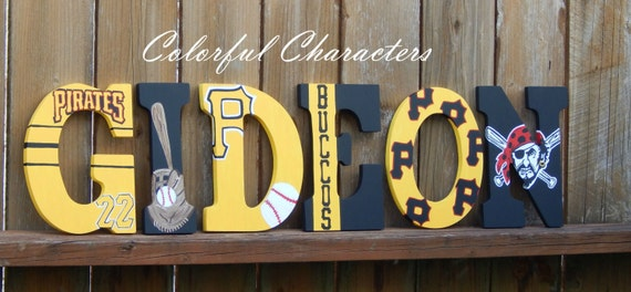 Pittsburgh Pirates Wall Letters Hand Painted By
