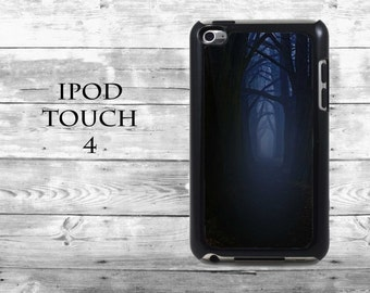 Mystical forrest Dark alley - iPod Touch 4G case - Night trees mythical phone iPod Touch case,  iPod cover
