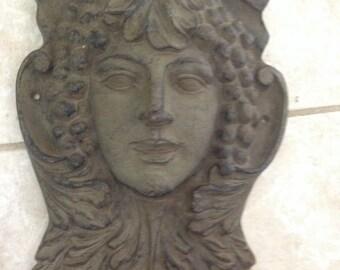Cast Iron Wine Goddess Wall Decor