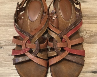 CLEARANCE ITEM - brown leather sandals