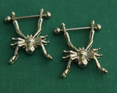 Surgical Steel Spider Nipple Ring Body Jewelry