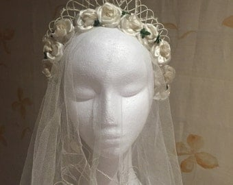 1950s vintage bridal tiara headpiece