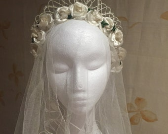 Reserved: 1950s vintage bridal tiara headpiece
