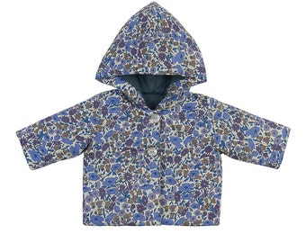 SALE *** 30% off *** LIBERTY hand made light padded baby jacket