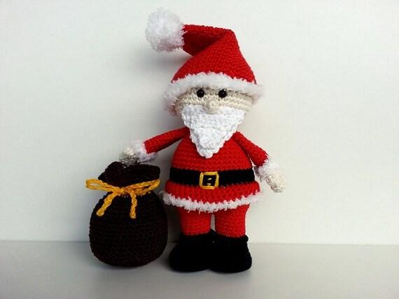 Amigurumi Yarn Pack : Mr. Santa Claus with bag amigurumi crochet pattern PDF ENG
