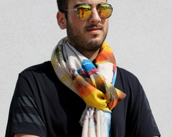 Men Scarf  Blue Scarf Red Man Scarf Scarf for Men Chritmas Scarf Gifts For Him Cool Mens Gifts  Men Scarves Scarf Mens Gifts For Men