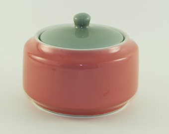Shenango Covered Dish, Vintage Sugar Dish, Mid-Century, 1955, Retro Kitchen, Pink Kitchen Decor, Grey Kitchen Decor, Vintage Sugar Dish
