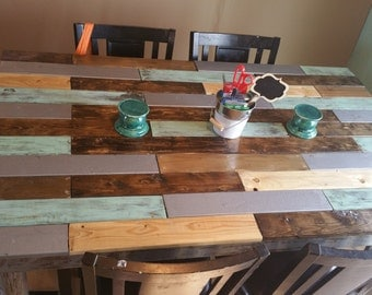rustic handmade tables and stools