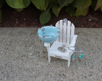 Miniature Adirondack Chair #3 Jewelry Organizer