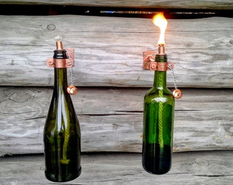 Items similar to 4 hardware only wine or beer tiki torch for Diy beer bottle tiki torches