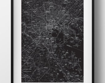 Baltimore, MD Map Poster 11x17 Digital File