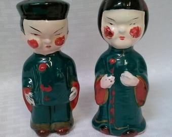 Nov Co Japan G Nov Co Vintage Salt and Pepper Shakers Asian Couple