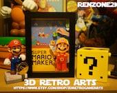 Super Mario Maker - Nintendo Wii U - Retro 3D Game Arts - Series 5 Collection - Retro Art 3 featured image