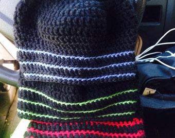 Black skully w/ colored stripe