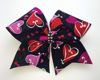Lovely Hearts Cheer Bow