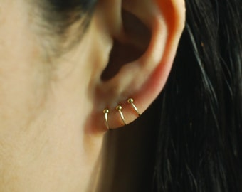 nose hoop ball etsy