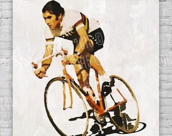 Eddy Merckx Watercolor Print / Poster