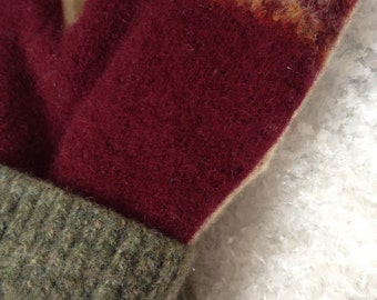 Mittens Felted Wool Sweater