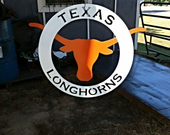 Texas Longhorns circular sign