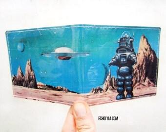 Vinyl Wallet - Forbidden Planet - 1956 - Science Fiction Movie - Handmade
