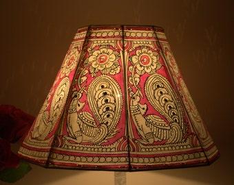 Floor Lampshade /  Pink Bird Lamp shade / Floor Lamp / Large  Lamp shade / Floor Lamps