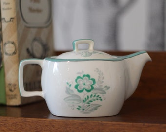 Small midwinter teapot with green flower pattern