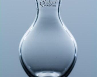 Dollhouse Miniatures Glassware Drop-Shaped Round Glass Vase