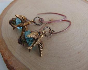 Bee And Glass Earrings