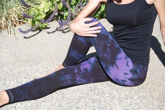 Twilight Purple Tie Dye Yoga Leggings by Splash Dye Activewear