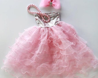 Mommy Miss Lily Dress Photo Prop Pink Prom