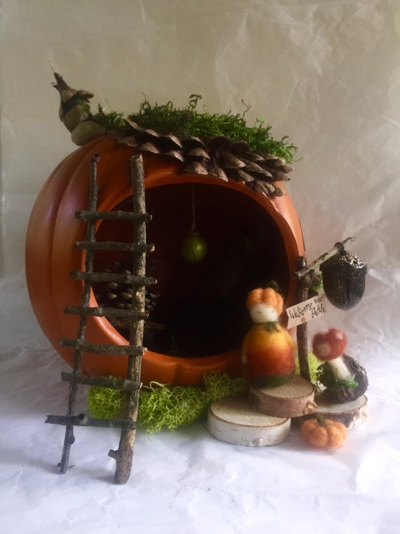 Pumpkin Fairy House Kit, DIY Fairy House, Fall Fairy House