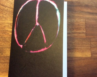 Peace Sign Christmas Card